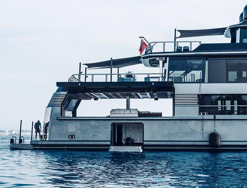 Le yacht Atlante par Gilles & Boissier