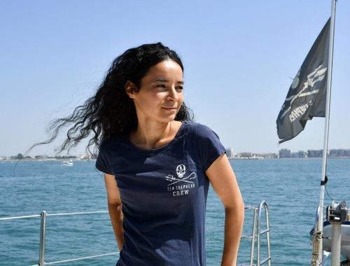 Lamya Essemlali, présidente de Sea Shepherd France