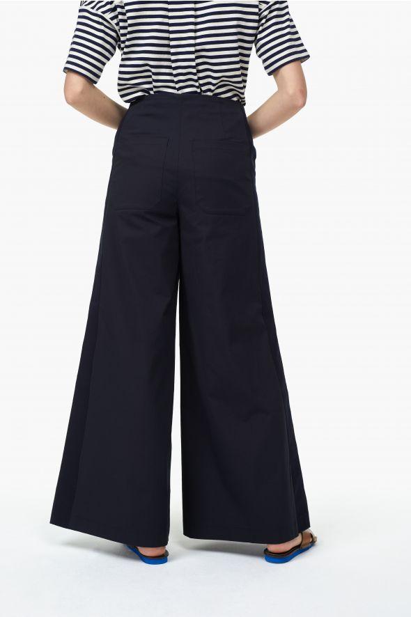 Pantalon à pont de style marin