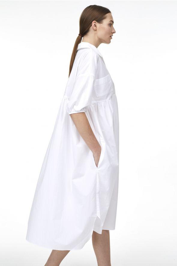 Robe-chemise oversize à col châle