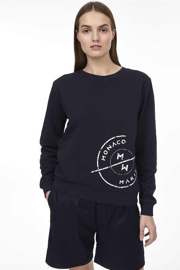 Sweatshirt imprimé Monaco Marine