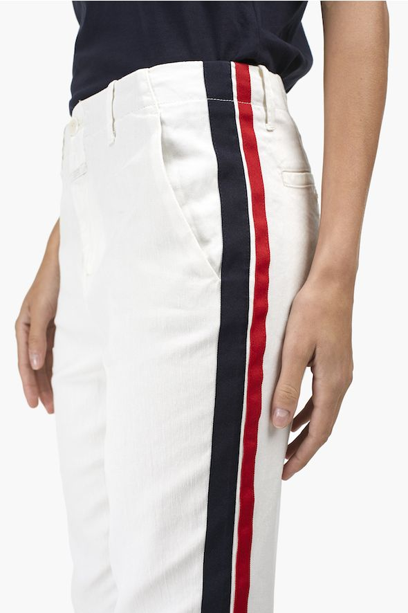 Pantalon Joe à rayures latérales bicolores
