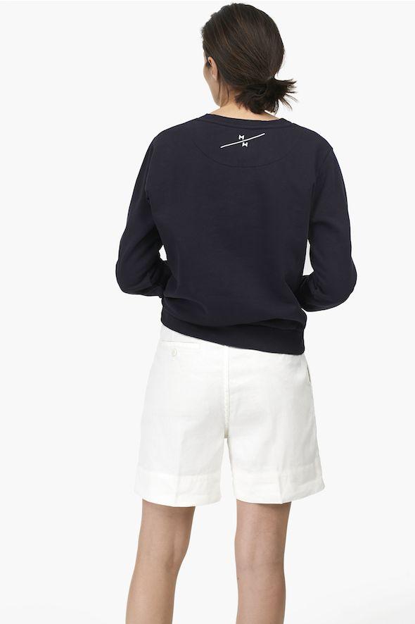 Short taille haute en lin et coton