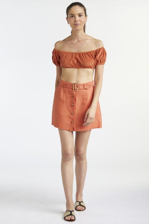 Lisa Marie Fernandez - Belted Mini Skirt
