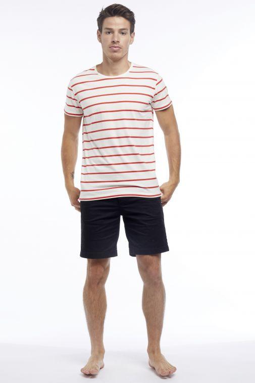 Monaco Marine Merci la Mer - T-Shirt Rayé Classique