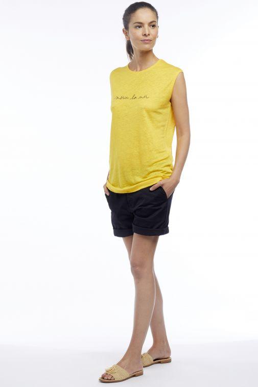 Monaco Marine Merci la Mer - T-shirt sans manches