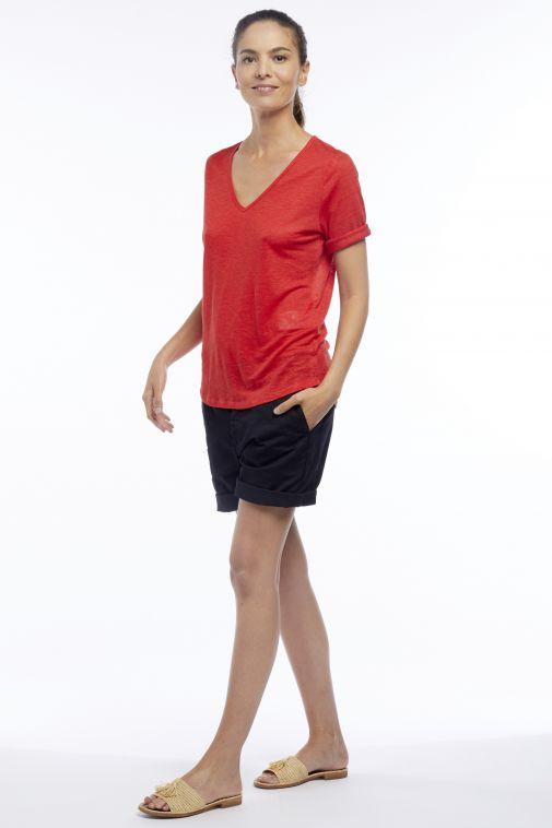 Monaco Marine Merci la Mer - T-shirt à col V