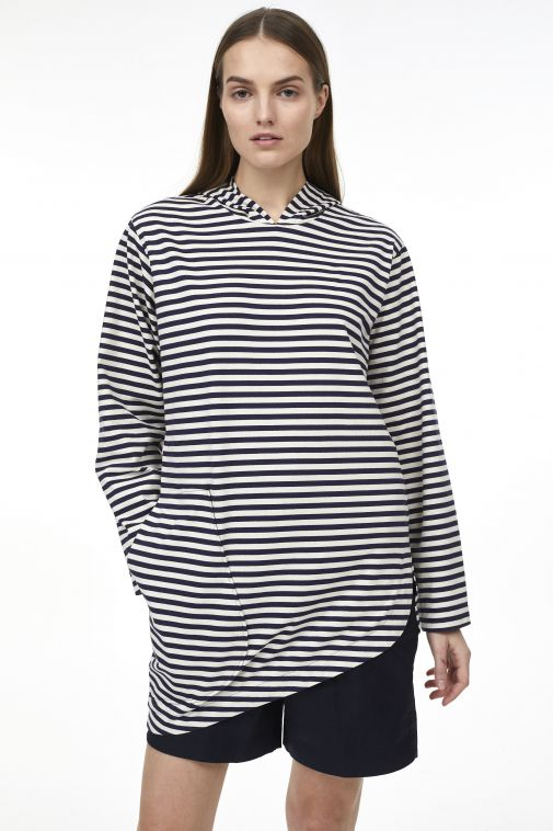 Odeeh - Sweatshirt rayé à capuche