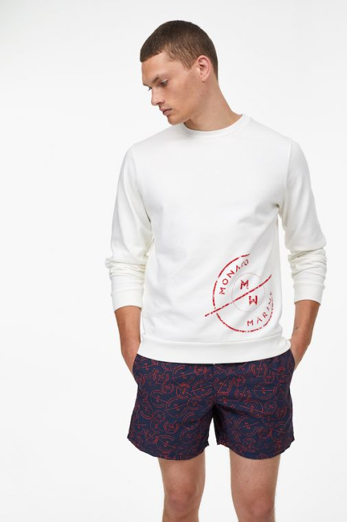 Closed - Sweatshirt imprimé Monaco Marine