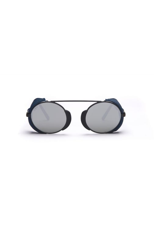 L.G.R Togo Flap Black Matt / Blue Falp Sunglasses