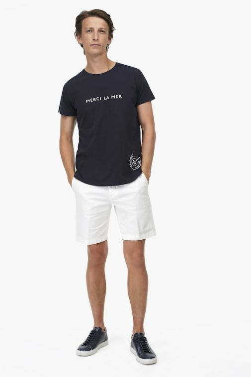 Closed - T-shirt brodé « Merci la Mer »