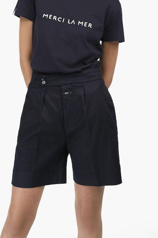 Shorts en lin et coton de Closed