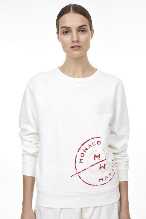 Sweatshirt avec imprimé logo de Closed