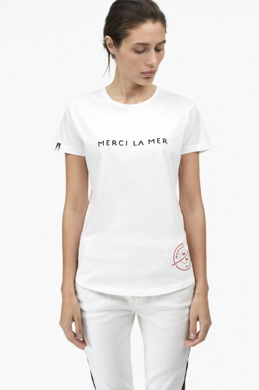 T-Shirt with Embroidery by Closed for Monaco Marine