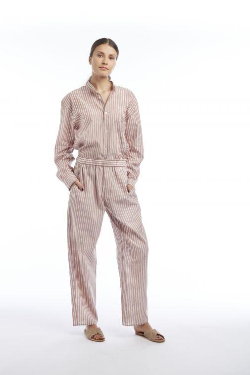 Crista Seya - Pantalon fluide à rayures