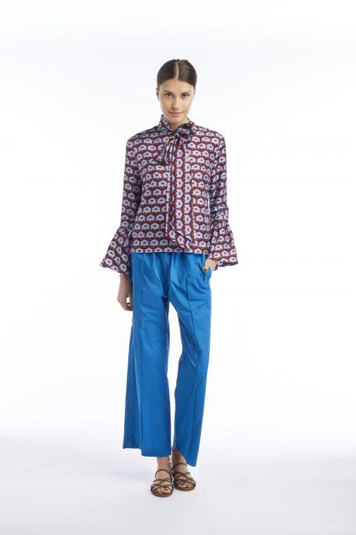 Odeeh - Pantalon à pinces bleu paon