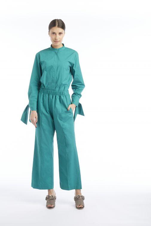 Odeeh - Pantalon à pinces vert émeraude