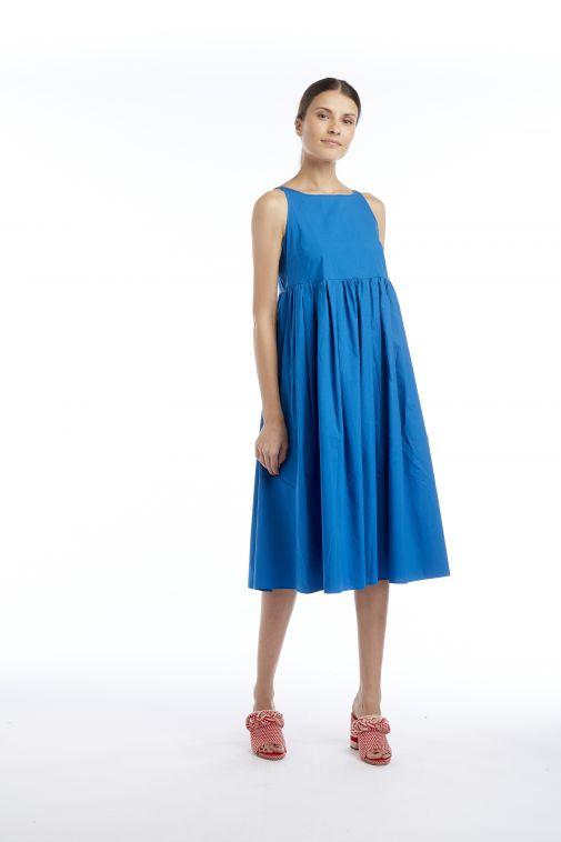 Odeeh - Robe sans manches bleu paon