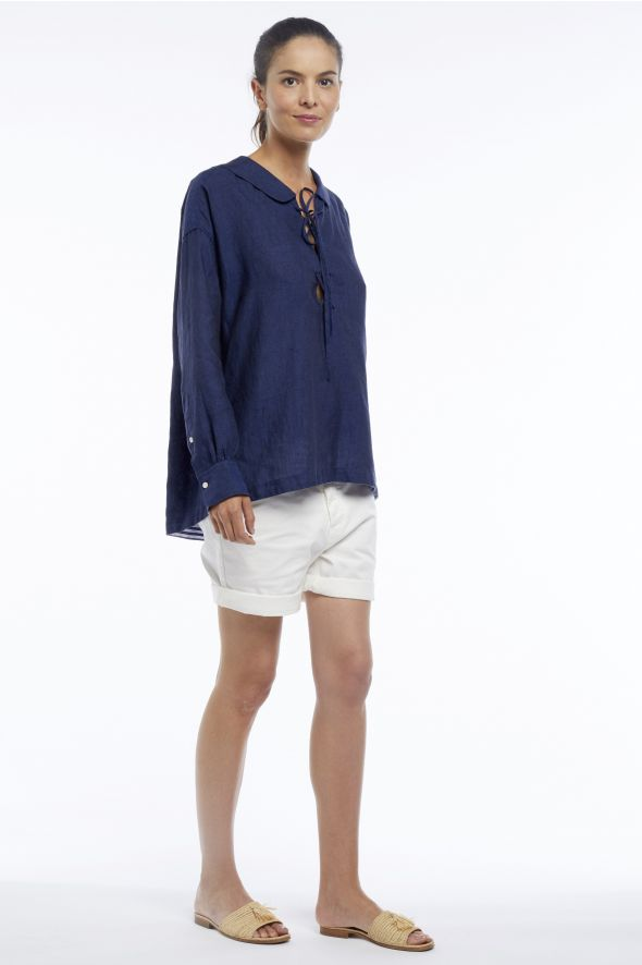 Monaco Marine - Linen sailor shirt