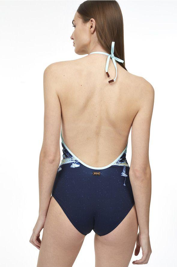 Vilebrequin X Monaco Marine one piece swimsuit